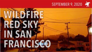 Blood Orange Skies in San Francisco