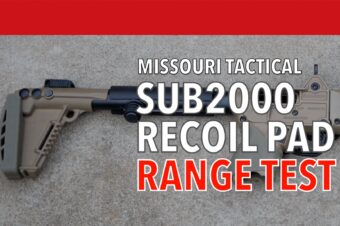 Range Testing the MoTac Recoil Pad